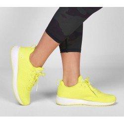 zapatillas skechers, bobs sport squad 33162, amarillo nyel neon, portada