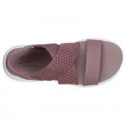 sandalias skechers ultra flex, color malva, vista superior