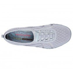 Zapatillas skechers relaxed fit breather easy, modelo 23028, color Gry gris, vista aerea