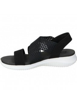 sandalia skechers ultra flex, color negro, vista interior