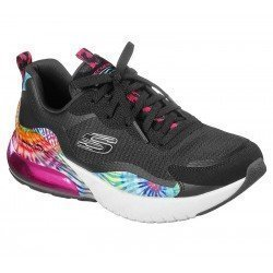 Zapatillas Skechers air stratus galaxy, modelo 149024, color negro Bkmt, vista general