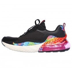 Zapatillas Skechers air stratus galaxy, modelo 149024, color negro Bkmt, vista lateral interior