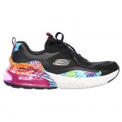 Zapatillas Skechers air stratus galaxy, modelo 149024, color negro Bkmt, vista lateral exterior