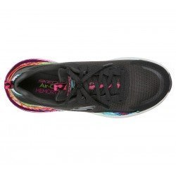 Zapatillas Skechers air stratus galaxy, modelo 149024, color negro Bkmt, vista aerea