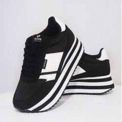 zapatillas victoria plataforma negra, modelo 142107, Portada