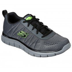 Zapatillas Skechers sports track moulton, modelo 232081, color gris ccbk, vista de portada
