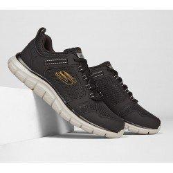 Zapatillas Skechers Sport Track Knockhill, modelo 232001, color negro-oro bkgd, vista portada