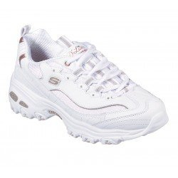 Zapatillas skechers D'Lites Copper Divine, modelo 13145, color blanco Wtrg, vista de portada