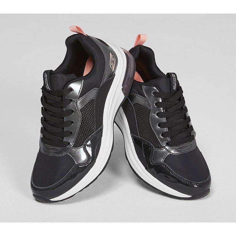 Zapatillas Skechers Bobs Sport Pulse Air, modelo 117012, Color negro Blk, vista portada