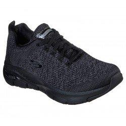 Zapatillas Skechers Arch Fit especial podólogos, modelo 149058, color bbk negro, vista portada