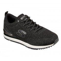 Zapatillas casual Skechers Originals Sunlite Magic Duste, modelo 897, color negro Bkpw, con elásticos, vista portada.