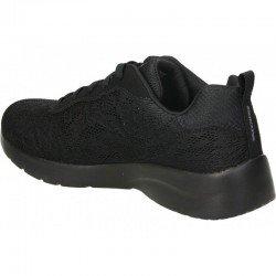 Zapatillas Skechers Sport Dynamight 2.0 Homespum, modelo 12963, color negro bbk, vista del talón.