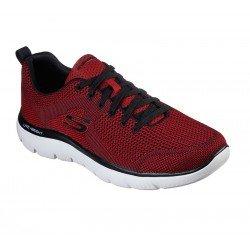 zapatillas deportivas SKECHERS, modelo 232057, RDBK rojo, con cordones, vista portada