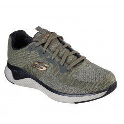 Zapatillas deportivas SKECHERS Solar Fuse Kryzic, modelo 52758, color OLBK Oliva Negro, vista portada