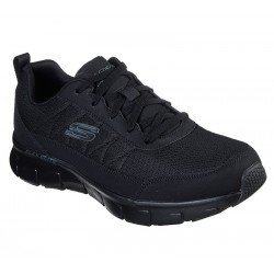 Zapatillas deportivas SKECHERS Synergy 3.0 52584, color BBK Negro, con cordones, platilla memory foam air cooled, vista portada