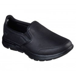 Mocasines SKECHERS Gowalk 5 convinced, modelo 55513, color negro BBK, de piel, vista foto portada