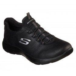 Zapatillas Deportivas SKECHERS Summits Itz Bazik, modelo 88888301, color BBK Negro, con cordones elásticos, vista portada