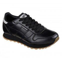 Zapatillas deportivas SKECHERS OG 85 Old School Cool, color BLK Negro, modelo 699, con cordones, vista portada.