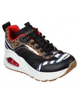 Zapatillas deportivas SKECHERS Uno Stand Hi the Hunt, modelo 155007, cámara de aire, animal print, vista general