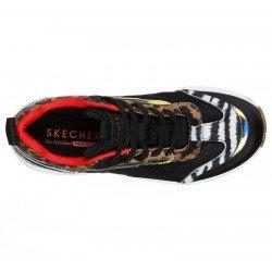 Zapatillas deportivas SKECHERS Uno Stand Hi the Hunt, modelo 155007, cámara de aire, animal print, vista superior