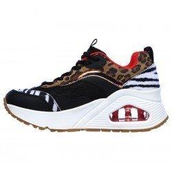 Zapatillas deportivas SKECHERS Uno Stand Hi the Hunt, modelo 155007, cámara de aire, animal print, vista lateral 2