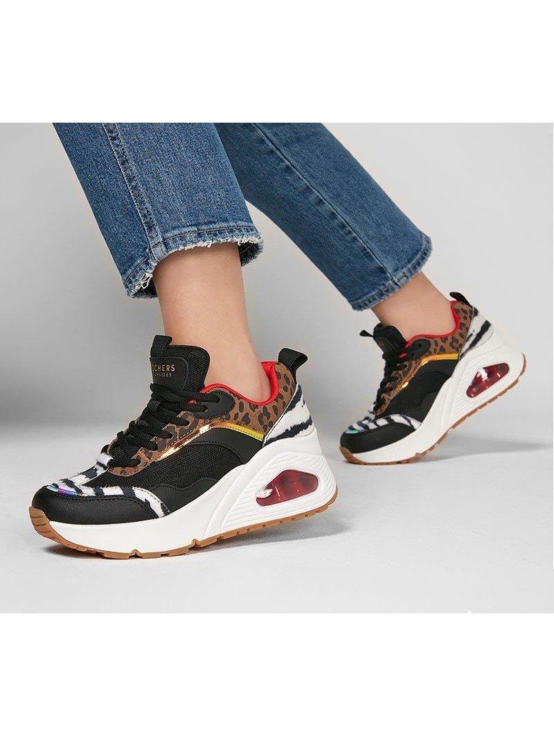 Zapatillas deportivas SKECHERS Uno Stand Hi the Hunt, modelo 155007, cámara de aire, animal print, vista portada