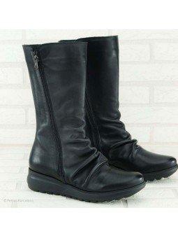 bota sergiotti, doble cremallera, suela Dynergy, color negro, vista portada.