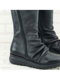 bota sergiotti, doble cremallera, suela Dynergy, color negro, vista detalle