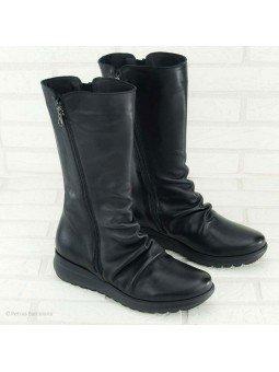 bota sergiotti, doble cremallera, suela Dynergy, color negro, vista general