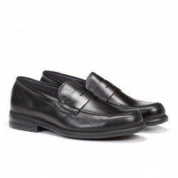 Zapato Fluchos caballero, color negro, modelo 8721, medio peso, sin cordones, piel, vista portada