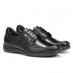 zapato Fluchos hombre, piel , color negro, modelo 8498, cierre cordones, vista portada