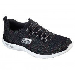 Zapatillas deportivas Skechers Relaxed Fit , modelo 12829, color BKMT Negro Multicolor, con cordones elásticos, vista portada