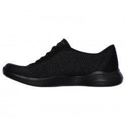 Zapatillas Deportivas Skechers Envy, modelo 23608, color BKCC negro, con cordones elásticos, vista interior