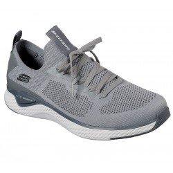 Zapatillas deportivas Skechers Solar Fuse, modelo 52757, color GYCC Gris, con cordones, vista portada