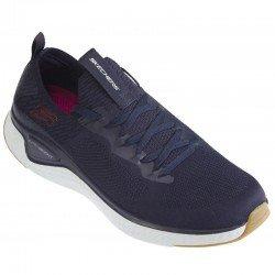 Zapatillas deportivas Skechers Solar Fuse, modelo 52757, color NVRD Azul, con cordones, vista portada