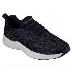 Zapatillas Deportivas Skechers Terraza Prylea, modelo 52539, color NVY Azul, cordones elásticos, vista portada