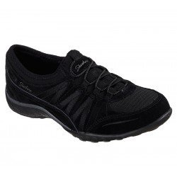 Zapatillas deportivas Skechers Casual Relaxed Fit Breathe Easy Moneybags 23020 BLK Negro, cordones elásticos, vista portada