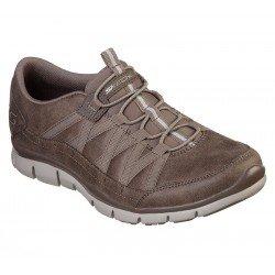 Zapatillas Deportivas Skechers Gratis Fine Taste 23356 DKTP Taupe, con elástico, vista portada