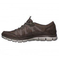 Zapatillas Deportivas Skechers Gratis Fine Taste 23356 DKTP Taupe, con elástico, vista interior