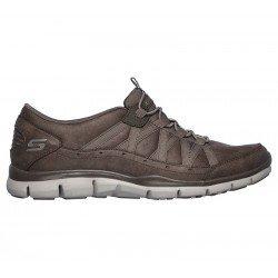 Zapatillas Deportivas Skechers Gratis Fine Taste 23356 DKTP Taupe, con elástico, vista lateral