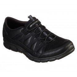 Zapatillas Deportivas Casual Skechers Gratis Fine Taste 23356 BBK Negro, cordones elásticos, vista portada