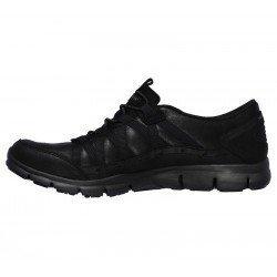 Zapatillas Deportivas Casual Skechers Gratis Fine Taste 23356 BBK Negro, cordones elásticos, vista interior
