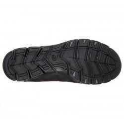 Zapatillas Deportivas Casual Skechers Gratis Fine Taste 23356 BBK Negro, cordones elásticos, vista suela
