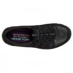 Zapatillas Deportivas Casual Skechers Gratis Fine Taste 23356 BBK Negro, cordones elásticos, vista superior