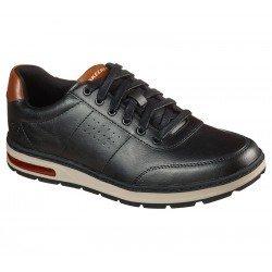 Zapato casual Skechers Evenston Fanton 210142 BLK Negro, con cordones, vista portada