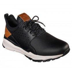 Zapatillas deportivas casual Skechers Relven Hemson 65732 BLK Negro, con cordones, vista portada
