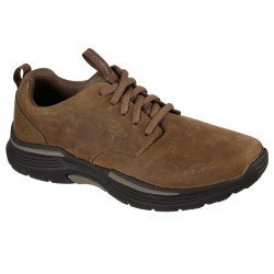 Zapatos casual Skechers Expended Carvalo 204175 DSRT Marrón, con cordones, vista portada