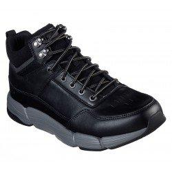 Bota Skechers Relaxed Fit Metco Boles 66252 BLK Negro, con cordones, vista portada