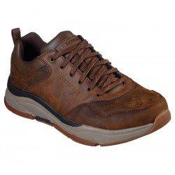 Zapato casual deportivo Skechers Relaxed Fit Benago Treno 66204 CDB Marrón, con cordones, vista portada