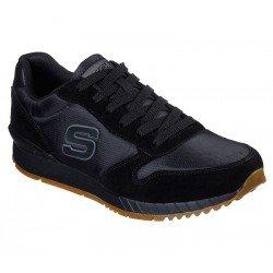 Zapatillas deportivas Skechers Sunlite Waltan 52384 BBK Negro, con cordones, vista portada